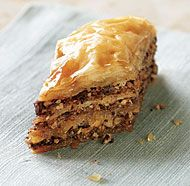 Hazelnut & Chocolate Baklava with Espresso-Frangelico Syrup