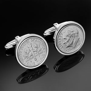1943 | US 10 Cent Cufflinks | Birthday Cufflinks