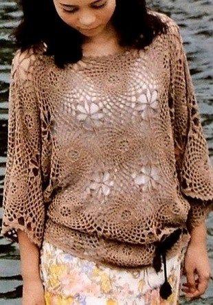 CROCHET blusa. - ganchillo por Yana