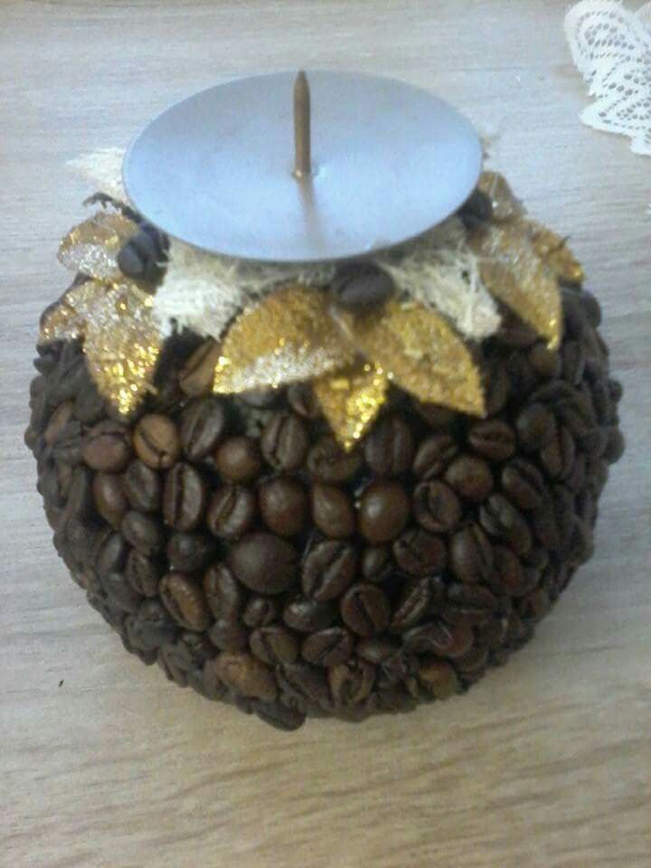 Svietnik z kavy