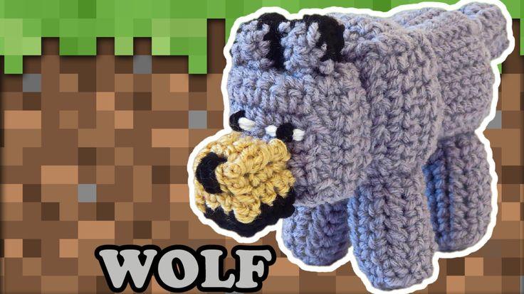 Minecraft Wolf Crochet Pattern - PDF - Easy Stuffed Toy Plush by JaydaInStitches on Etsy