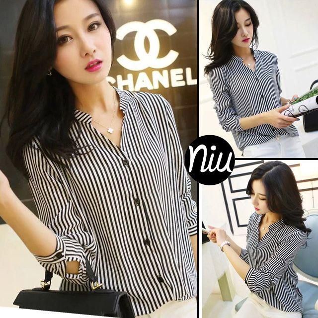 Un blusa elegante con rayas verticales, encuentra esto y mucho más en: www.niuenlinea.co