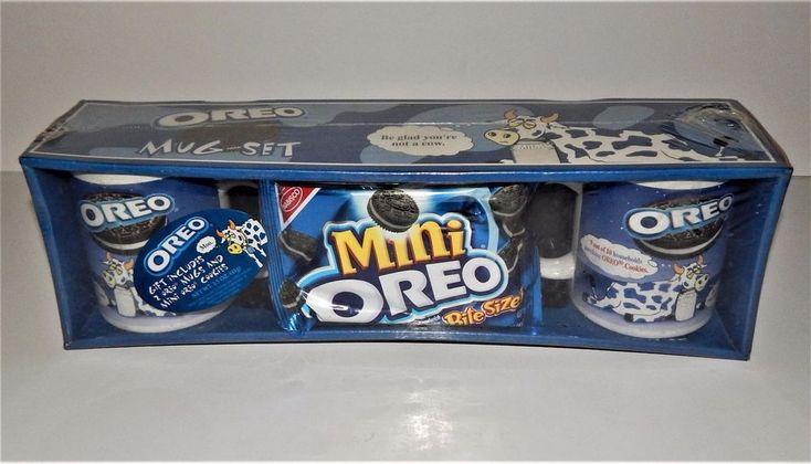 Oreo Be Glad You're Not a Cow Coffee Mug Set Moo Please No More Milk Vintage New #Oreo