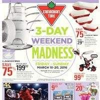 Canadian Tire - 3-Day Weekend Madness Flyer