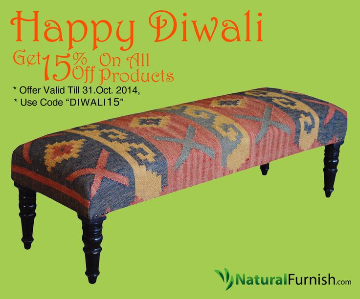 Best Bench Images On Pinterest Benches Ottomans And Jute - Deepavali special at the green furniture offers valid while stocks