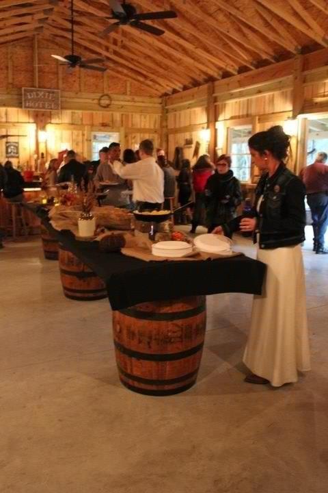 Cute Tables With Barrels Barn Renovation Barn Parties