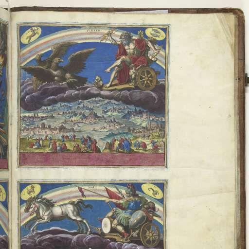 De planeet Jupiter en zijn invloed op de wereld, Johann Sadeler (I), 1585 - Rijksmuseum