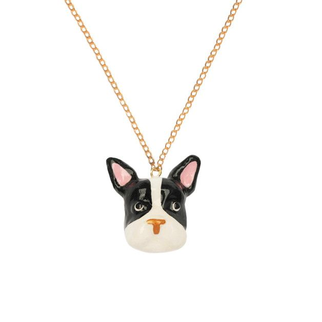 French Bulldog Necklace Black and White