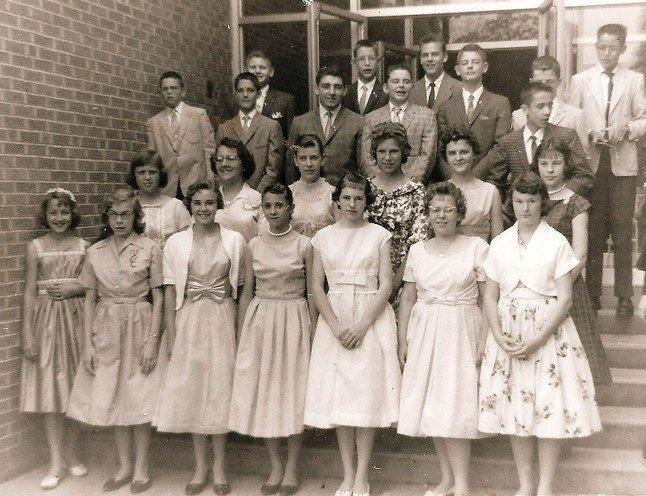 8th grade graduation (1960).: Baptist 8Th, Graduation 1960, 8Th Grade Graduation, John The Baptist