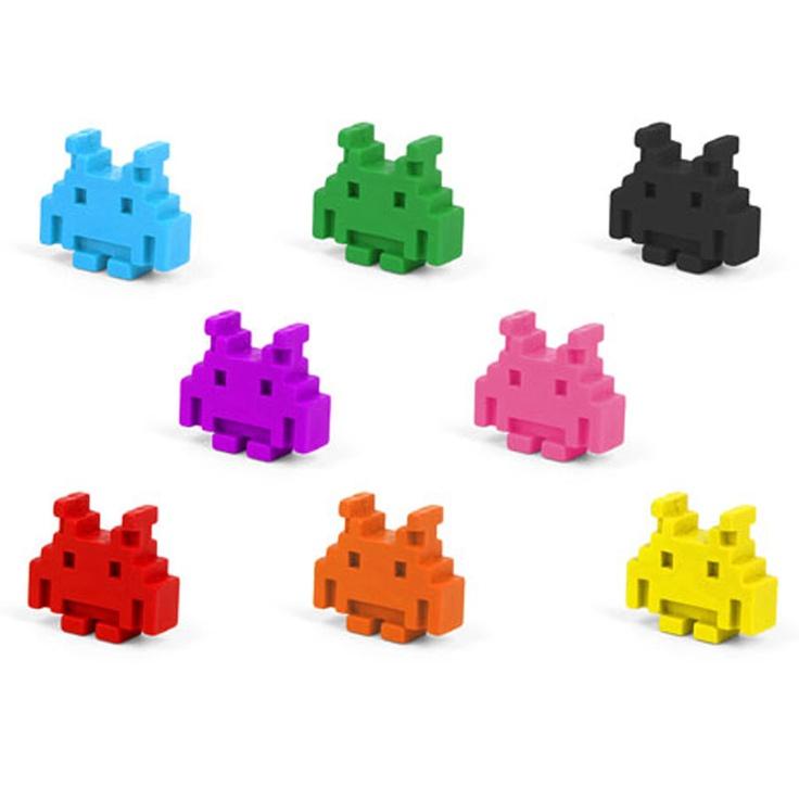Space invaders fargestifter  Kommer i pakke med 8 forskjellige farger