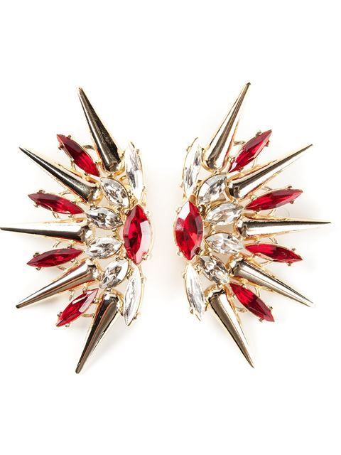 Shop Anton Heunis swarovski crystal spike earrings in Jean Pierre Bua from the world's best independent boutiques at farfetch.com. Over 1000 designers from 60 boutiques in one website.