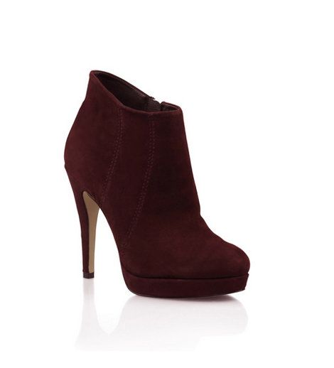 Bonbons - Alisa Claret Suede Ankle Boot  Suede platform ankle boot with side stitch detail.    Heel: 12cm.    Leather upper, synthetic lining & sole.    Was:$129.95 Now:$64.95