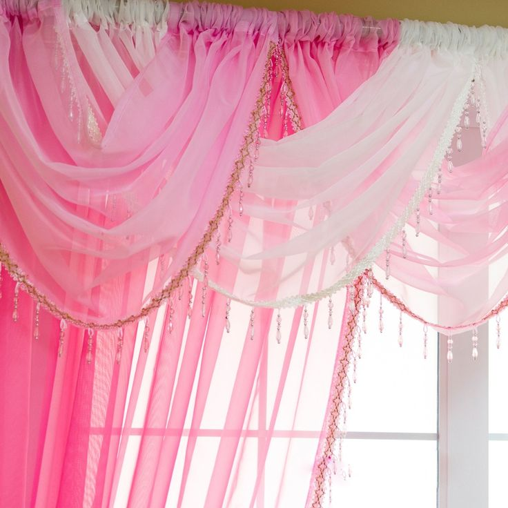 european dangle beaded voile short window curtains valance drapery tulle sheer for cafe hotel home bedroom