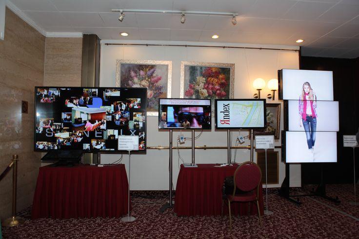 Digital signage no alternative 2014 conference by Digisky. SpinetiX corner ready