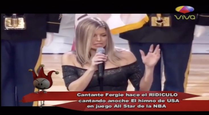 Cantante Fergie Hace El Ridículo Cantando El Himno De USA En Juego De NBA