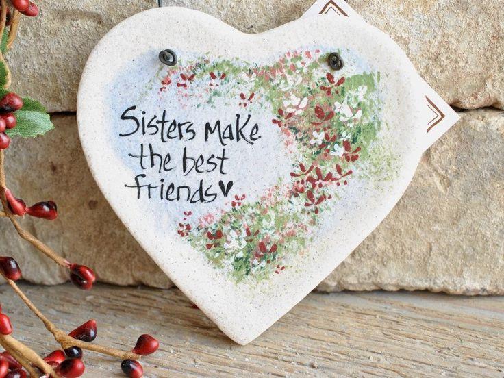 Sister Gift Salt Dough Ornament                                                                                                                                                                                 Más