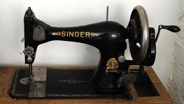 fashioned singer sewing machine