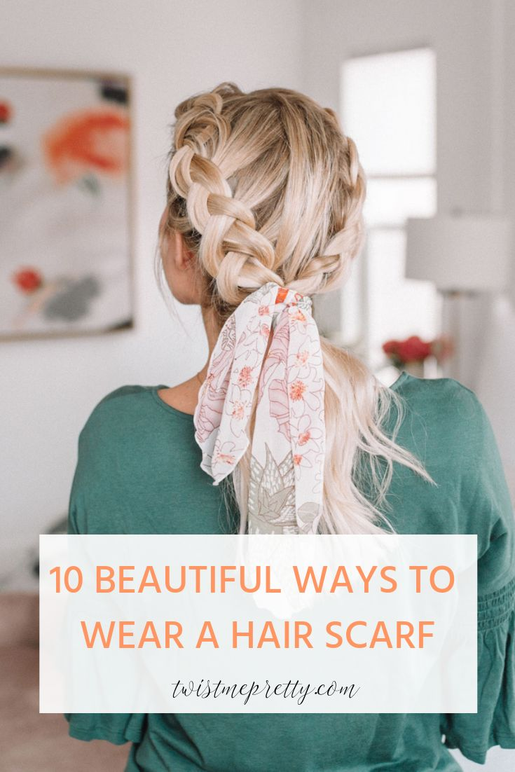 10 methods to put on a hair scarf for medium size hair