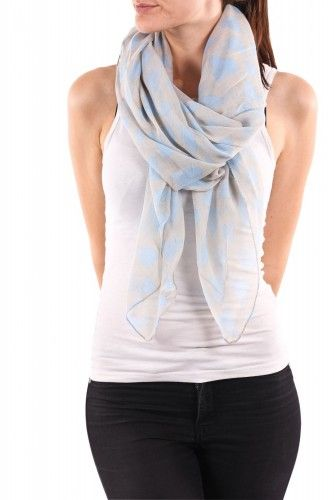 Skjerf m/hjerter, scarf with hearts