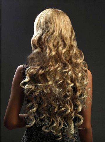 How pretty is this when you curl one length THICK hair.