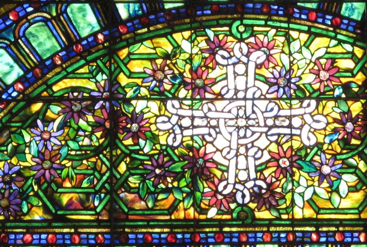 Clematis window at St. Mark's Lutheran Church, Baltimore
