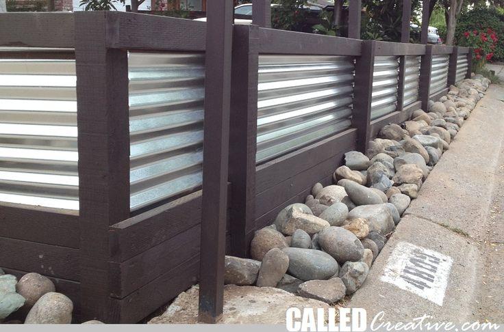 Creating A Modern Wood & Metal Retaining Wall & Fence | CalledCreative