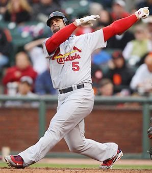 Albert Pujols (Big Al, El Hombre, Prince Albert), he can hit the ball hard I mean really hard