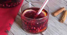 Come preparare la sangria al melograno, sangria invernale senza pesche, ideale come aperitivo per Natale o cocktail per capodanno