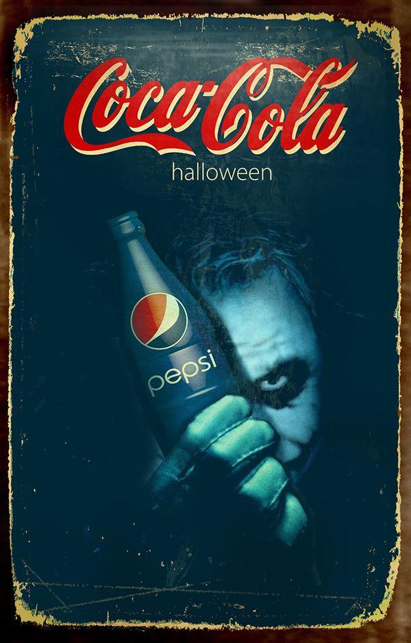 Batman-Halloween theme Coca Cola posters.
