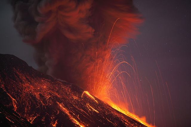 Photos of Sakurajima volcano