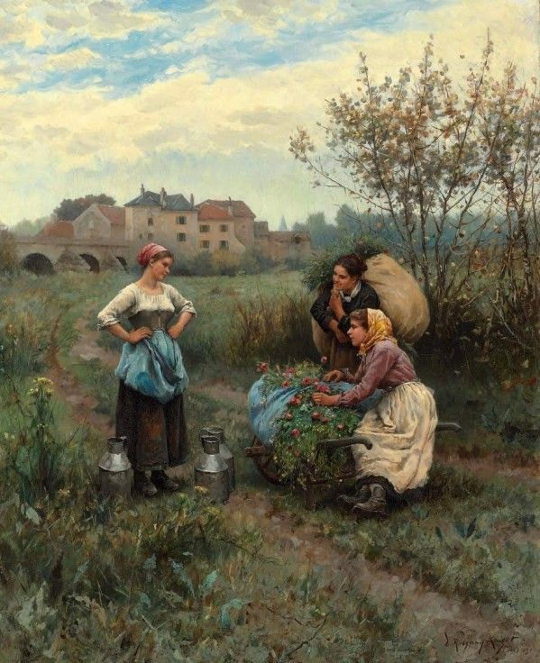 17 best images about daniel ridgway knight painter on pinterest mars oil on canvas and. Black Bedroom Furniture Sets. Home Design Ideas