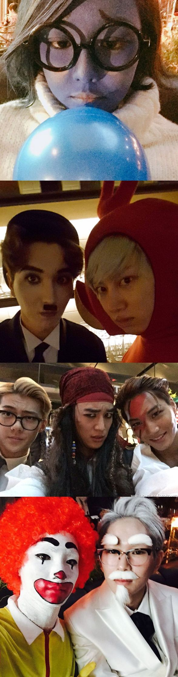Members of EXO, Girls'Generation, Super Junior, SHINee, and more dressed up for SM Town's 2015 Halloween bash!
