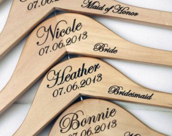 5 Personalized Bridesmaid Hangers Engraved by DelovelyDetails