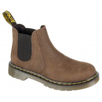 Crafted in Black or Dark Brown Leathers, the Shenzi Boot was made for little rebels. The durable air-cushioned sole will withstand any amount of running and jumping and the handy Zip fastening means they're easy to pull on and off. Classic features like the yellow and black tab and yellow stitching make these an instant mini classic for the next generation. http://www.marshallshoes.co.uk/childrens-c20/dr-martens-kids-boys-shenzi-dark-brown-ankle-boot-16704201-p3207