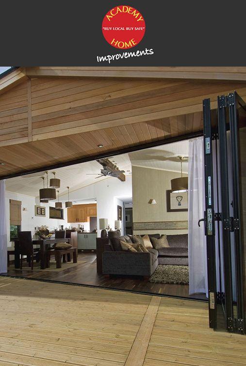 Beautiful Bi Fold Doors by Academy Home Improvements.   http://www.academyhome.co.uk/products/doors/bi-fold-doors