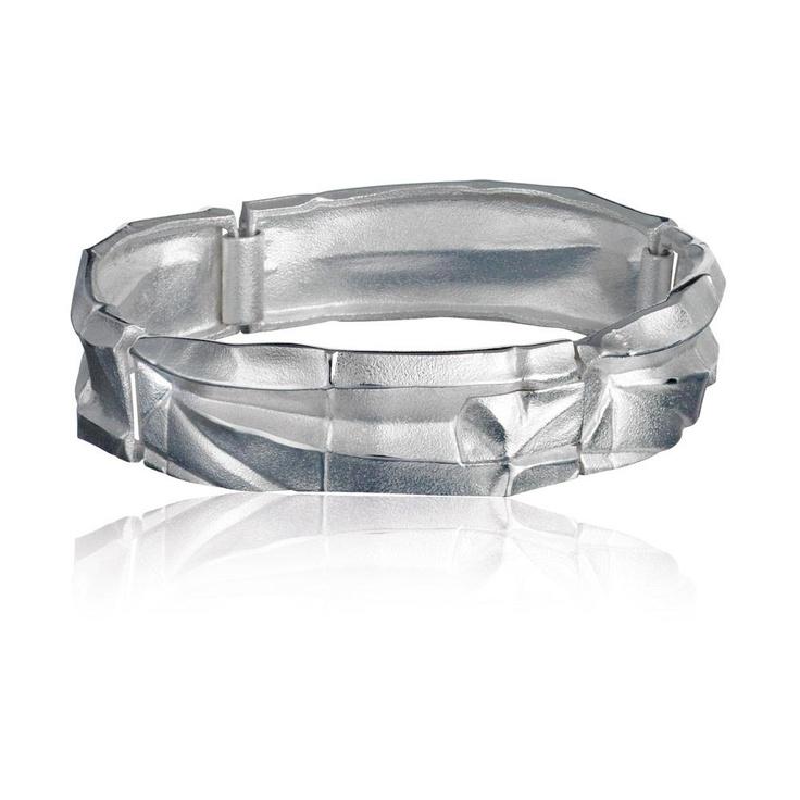 ORIGAMI 12  Design Zoltan Popovits / Silver Bracelet / Lapponia Jewelry / Handmade in Helsinki