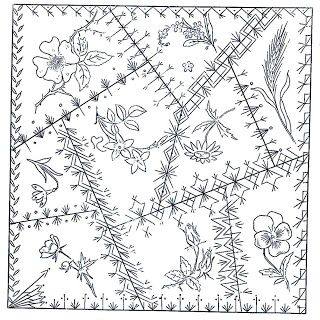 Betty Pillsbury & Green Spiral Herbs  A Victorian Crazy Quilt block pattern |Pinned from PinTo for iPad|