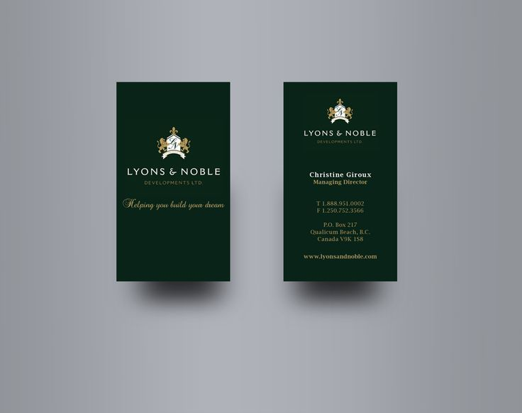 14 best business card images on pinterest business cards canada lyons noble business card design for a custom home builder on vancouver island reheart Image collections