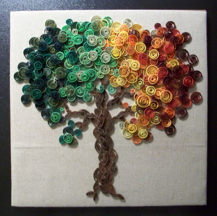 Paper Quilled Tree Wall Art by dreamscapegallery on Etsy
