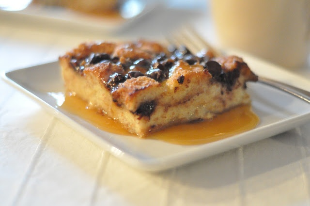 ... Can Cook: Chocolate Chip Bread Pudding ~ chocolate & toffee chips