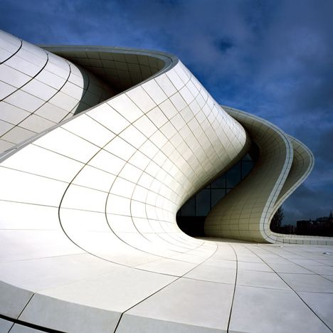chrome hearts online store authentic Heydar Aliyev Centre by Zaha Hadid photographed by He