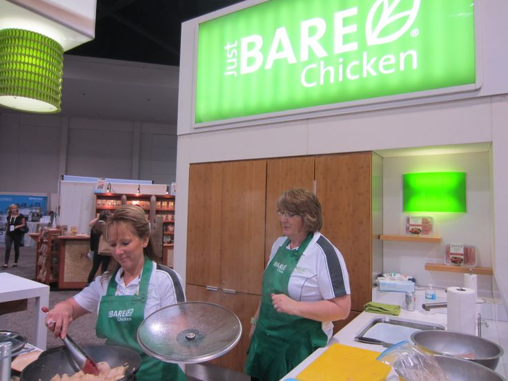 Just BARE Chicken cooking it up at Natural Products Expo West.