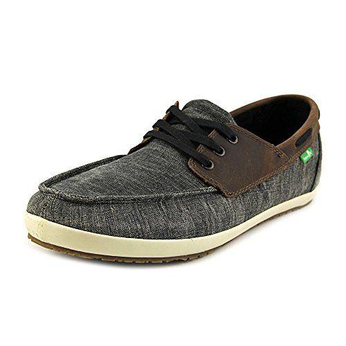 Sanuk Men's Casa Barco Vintage Boat Shoe, Black, 8 M US
