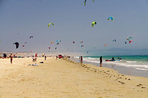 Travelling with kids to Tarifa Spain. Kitesurfing holidays