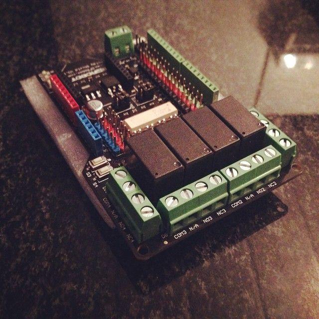 Gravity 4 Channel Relay Shield Arduino Arduino Sensors Arduino Projects
