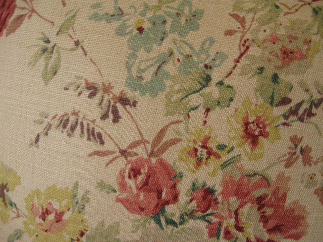Laura Ashley Fabric Laura Ashley Stowe Red And Biscuit