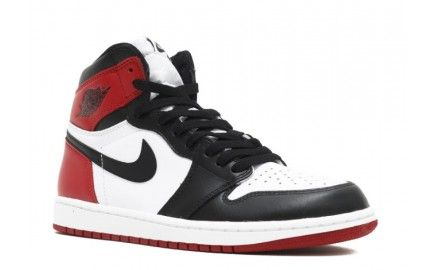100% original authentic air jordan 1 for mens white black-varsity red retro high og black toe hot sale