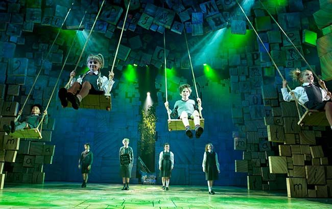 That's when — thanks to the imagination of lighting designer Hugh Vanstone — lasers begin to pulse about the theater as the hideous headmistress Miss Trunchbull imposes lockdown on her terrified students.   http://www.newyork.com/articles/broadway/the-7-best-special-effects-on-and-off-broadway-right-now-19231/
