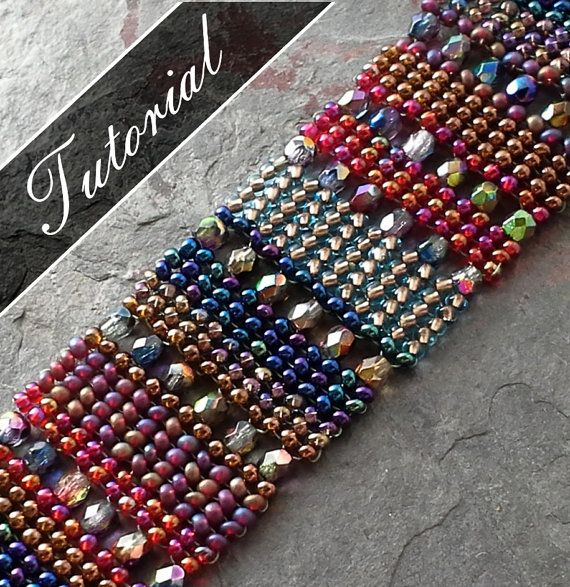 This beadweaving pattern is a technique tutorial that teaches how to include crystals or other beads in a herringbone stitch bracelet. In the example, I used multiple colors in a random striped pattern, which reminded me of a Middle Eastern tapestry rug, thus the name, Bedouin. * This is a beginner to intermediate level tutorial for those who have prior knowledge of Herringbone stitch and proper thread tension. My diagrams and instructions are extremely easy to follow. * This tutorial…