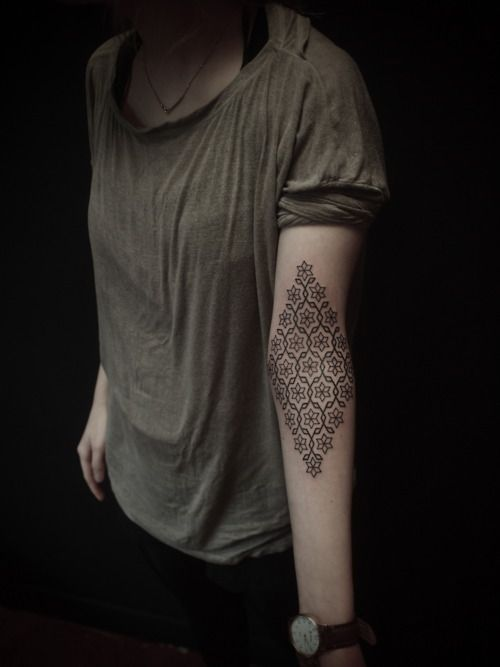 Pattern Tattoo, Tattoo Pattern, Geometric Design, A Tattoo, Tattoo Design, Arm Tattoo, Geometric Tattoo, Floral Pattern, Flower Pattern